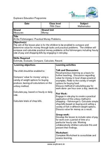 Mathematics for Primary School Curriculum